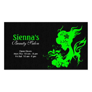 Hair Stylist (Lime) Double-Sided Standard Business Cards (Pack Of 100)