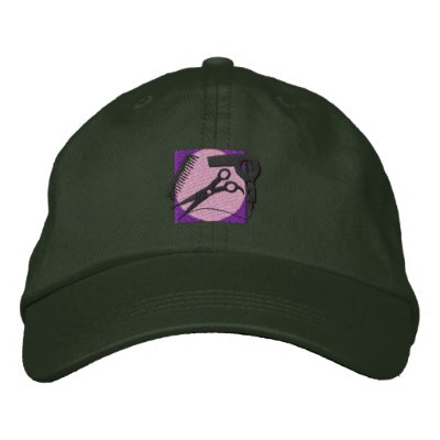 Hair Stylist Logo Embroidered Hat by ZazzleEmbroidery