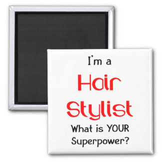 Hair stylist 2 inch square magnet