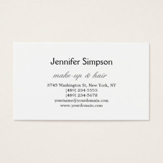 Hair Stylist Makeup Artist Professional Business Business Card