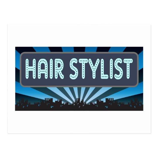 Hair Stylist Marquee Postcard