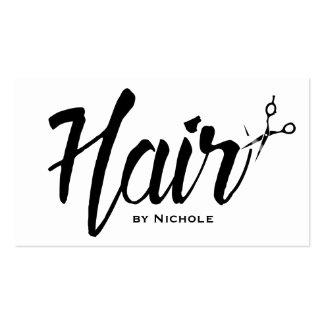 Hair Stylist Modern Script Salon Appointment Business Card