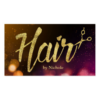 Hair Stylist Modern Sparkle Lights Appointment Business Card