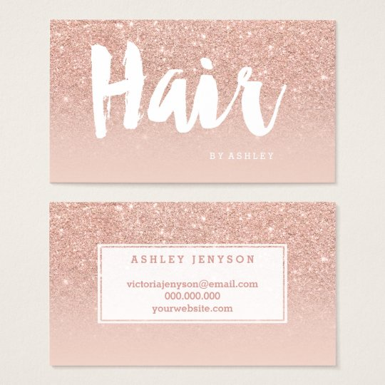 Hair stylist modern typography blush rose gold business card hair stylist modern typography blush rose gold business card colourmoves