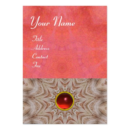 HAIR STYLIST monogram ,antique pink red ruby,white Large Business Cards (Pack Of 100)