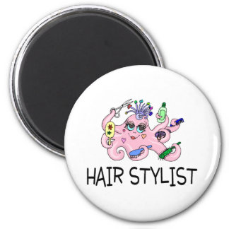 Hair Stylist Octopus Magnet