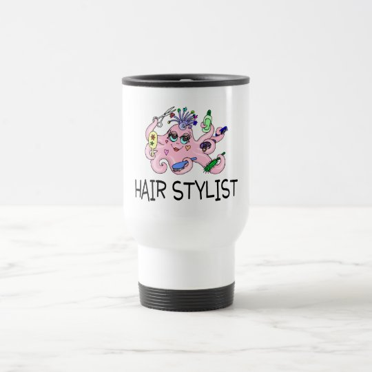 Hair Stylist Octopus Travel Mug