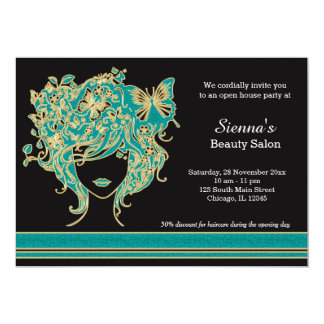 Hair stylist Open House Card