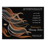Hair stylist personalized flyer