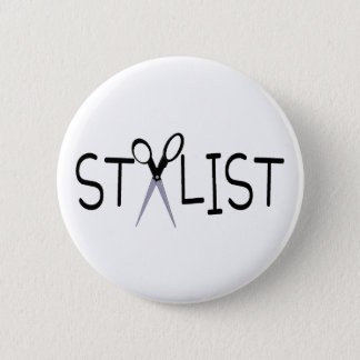 Hair Stylist Pinback Button