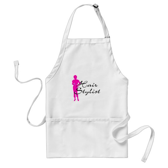 Hair Stylist (Pink) Adult Apron