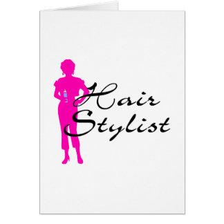 Hair Stylist (Pink) Card