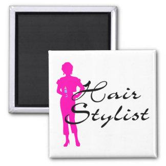 Hair Stylist (Pink) Magnet