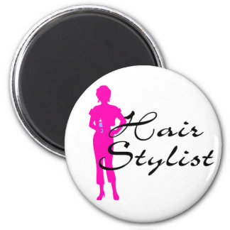 Hair Stylist (Pink) Magnet