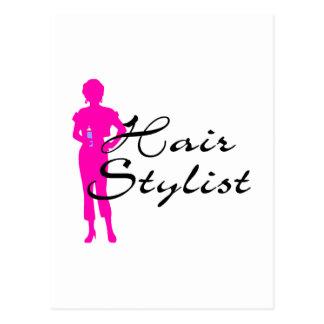 Hair Stylist (Pink) Postcard