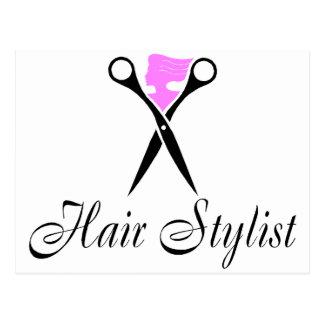 Hair Stylist (Pink/Scissors) Postcard