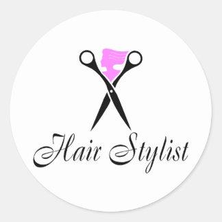 Hair Stylist (Pink/Scissors) Sticker