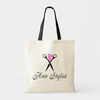 Hair Stylist (Pink/Scissors) Tote Bag