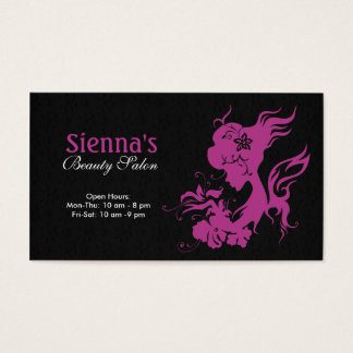 Hair Stylist (Plum) Business Card