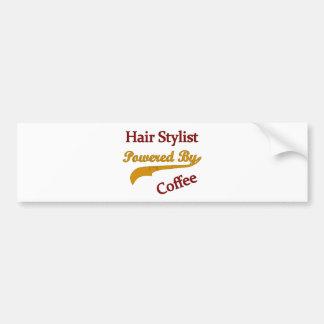 Hair Stylist Powered By Coffee Bumper Sticker