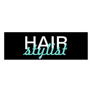 hair stylist punch card Double-Sided mini business cards (Pack of 20)