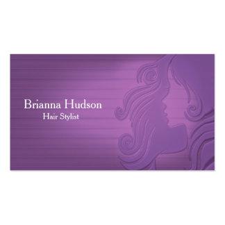 Hair Stylist Purple Business Card