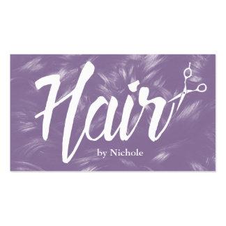 Hair Stylist Purple Curly Hair Appointment Business Card
