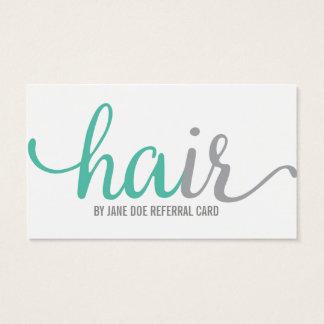 Hair Stylist Referral Business Card