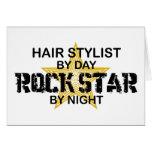 Hair Stylist Rock Star by Night Greeting Card