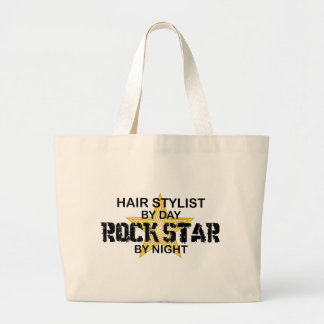 Hair Stylist Rock Star by Night Large Tote Bag