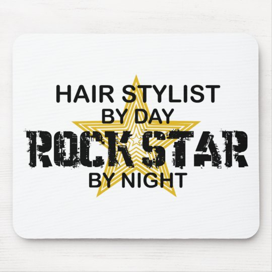 Hair Stylist Rock Star by Night Mouse Pad