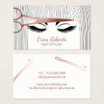 "Hair Stylist Rose Gold Scissor &amp; Girl Hair Salon Business Card<br><div class=""desc"">Hair Stylist Rose Gold Scissor &amp; Girl Hair Salon Business Cards.</div>"