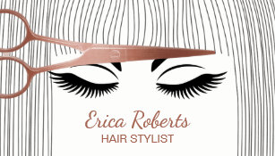 Hair stylist business cards zazzle hair stylist rose gold scissor girl hair salon business card colourmoves