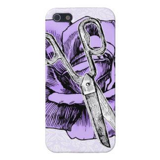 Hair stylist rose shears scissors case purple