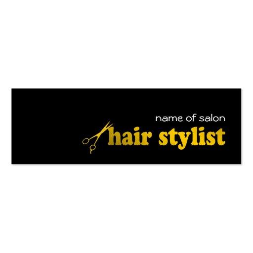 Hair stylist salon business card template gold zazzle for Hair salon business card template