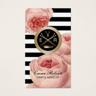 Hair Stylist Scissor & Comb Floral Appointment Business Card