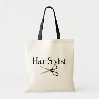 Hair Stylist Scissors Budget Tote Bag