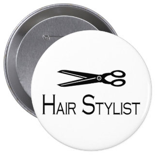Hair Stylist (Scissors) Pinback Button