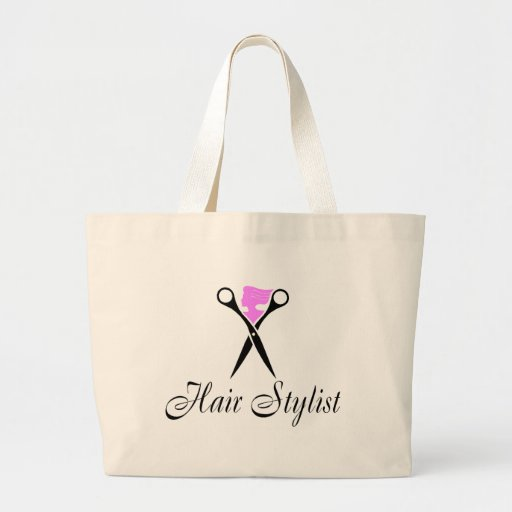 Hair Stylist (Scissors/Pink) Tote Bags