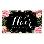Hair Stylist Script Floral Wrapping Appointment Double-Sided Standard Business Cards (Pack Of 100)