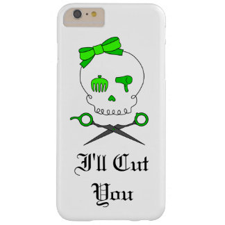 Hair Stylist Skull & Scissor Crossbones - Green #5 Barely There iPhone 6 Plus Case