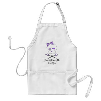 Hair Stylist Skull & Scissor Crossbones - Purple Adult Apron