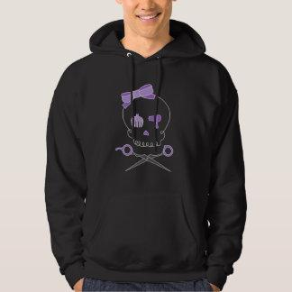 Hair Stylist Skull & Scissor Crossbones - Purple Hoodie