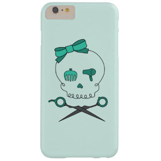 Hair Stylist Skull & Scissor Crossbones -Turquoise Barely There iPhone 6 Plus Case
