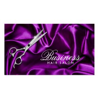 Hair Stylist Sleek Violet Hair Salon Business Card
