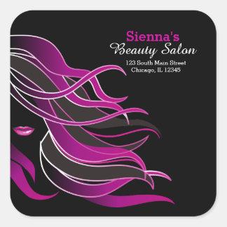 Hair stylist square sticker