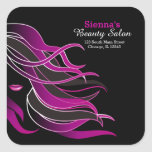 Hair stylist square stickers