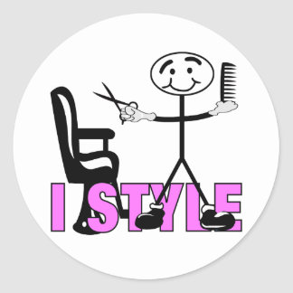 Hair Stylist Round Sticker