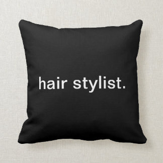 Hair Stylist Throw Pillow