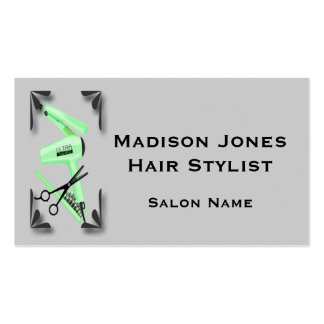 Hair Stylist Tools Business Card Template